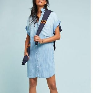 Anthropologie Cloth & Stone Wilson Chambray dress